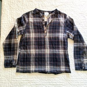 C de C plaid button down shirt, boys size 6